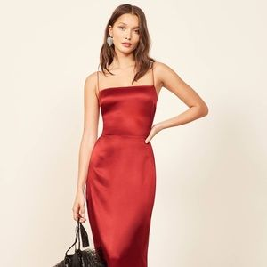 5fc0e6702d5b Reformation Dresses - Reformation Silk Red Dress
